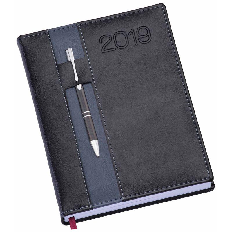 Agenda Strip Couro 2019 - Com Porta-Caneta - Ref. 0014280