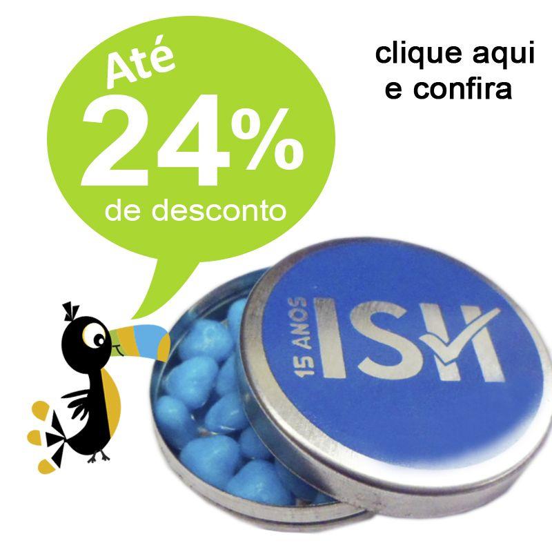 BALINHAS DE CORAÇÃO NA LATA PRATA 5x1 - REF.0014924