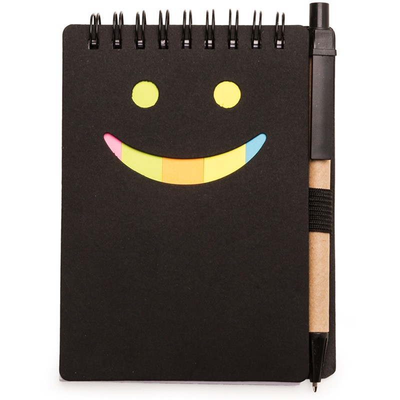 Bloco de Anotação Smile com Caneta - Ref.0019100