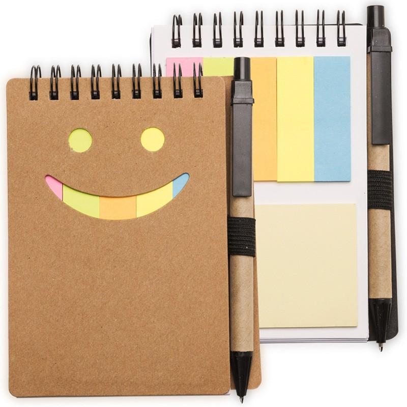 - Smile - Bloco de Anotações com Caneta e Post-It - Ref.0019100 - A partir de