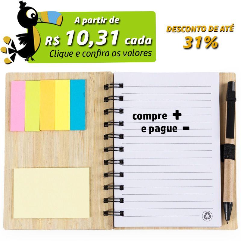 Bloco de Anotações Bambu - Ref.0019115