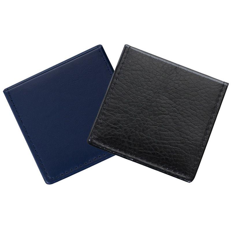 Bloco de anotações de couro sintético com suporte plástico - Ref. 0019135
