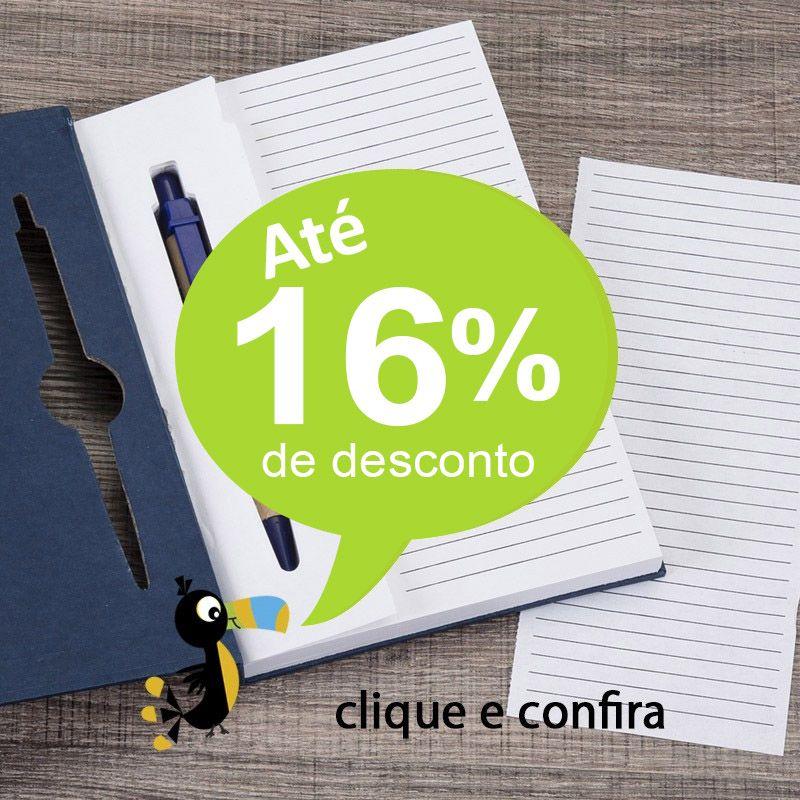 Bloco de Notas Capa Dura e Caneta Embutida - Ref.0019080