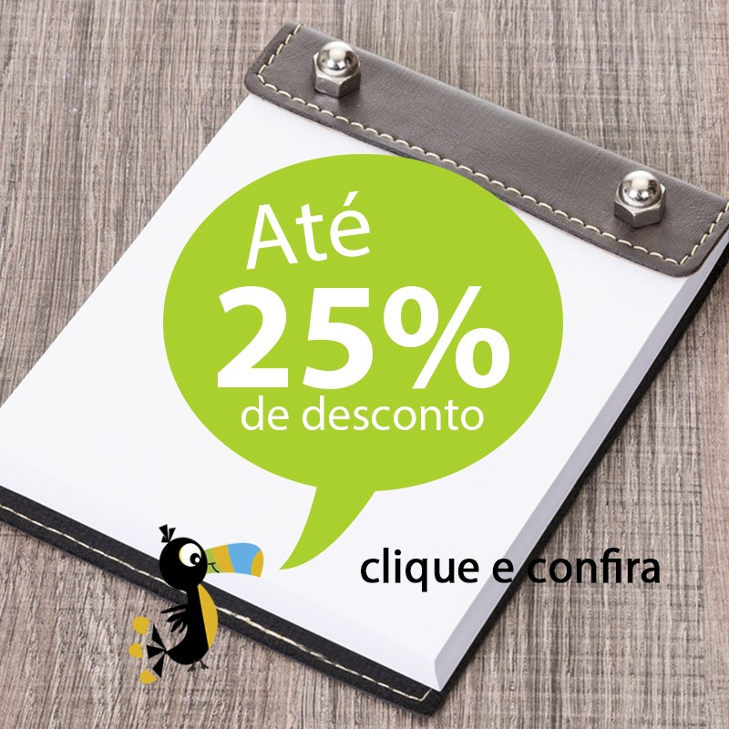 Bloco de Notas Couro e Parafusos - Ref.0019060
