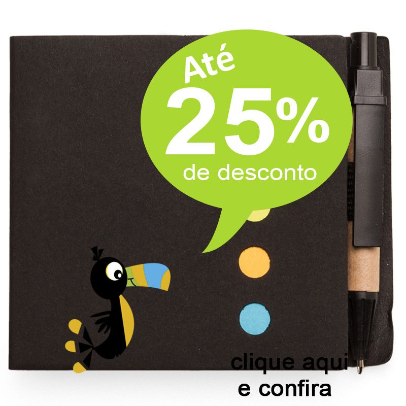 Bloco Ecológico com Post-it e Mini Caneta - Ref.0019095