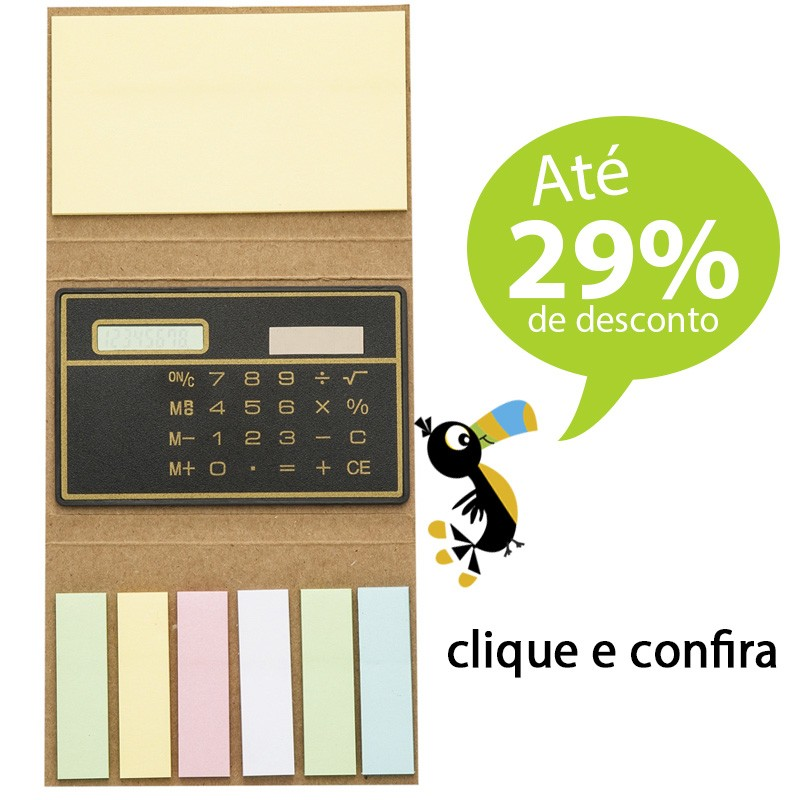 Bloco Ecológico Post-It e Calculadora - Ref.0019077
