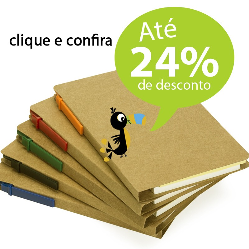 Bloco Ecológico Post-it e Caneta - Ref.0019001