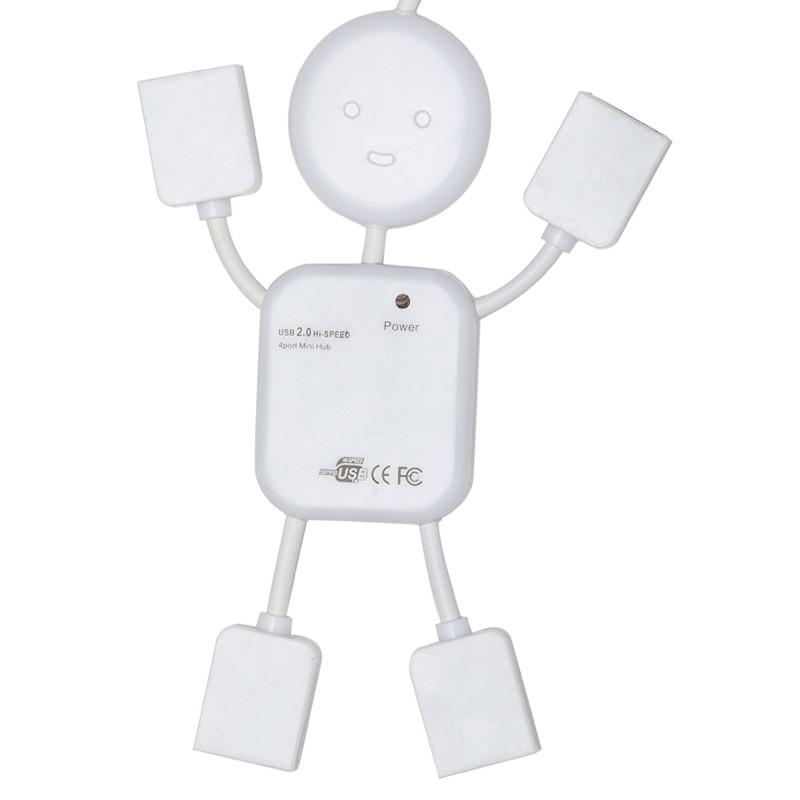 Boneco hub plástico com 4 entradas USB - Ref.0025003