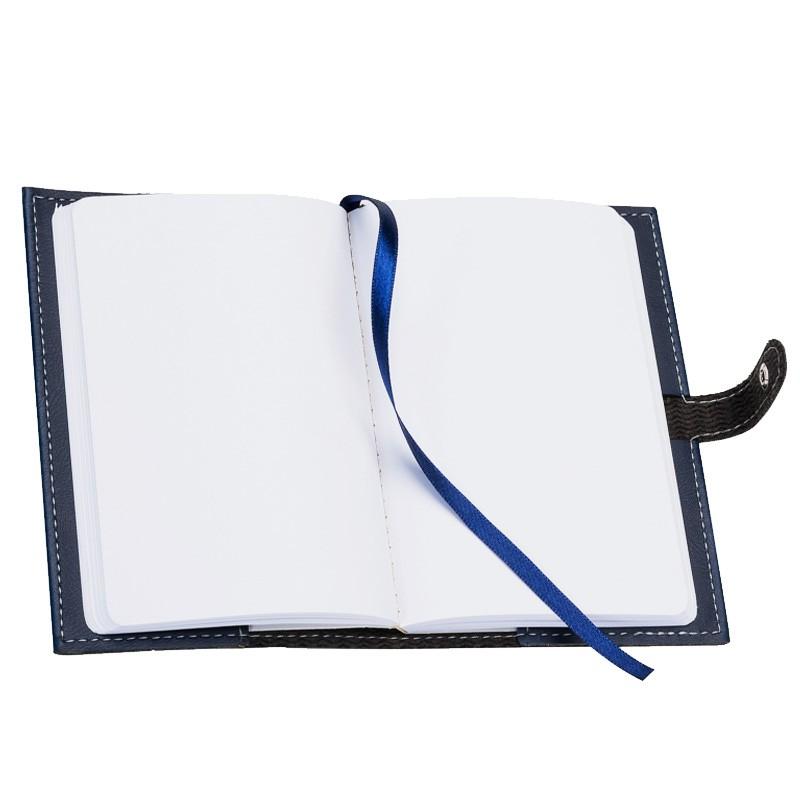 Bidins - Bloco de Notas Couro com Botão - Ref.0019070