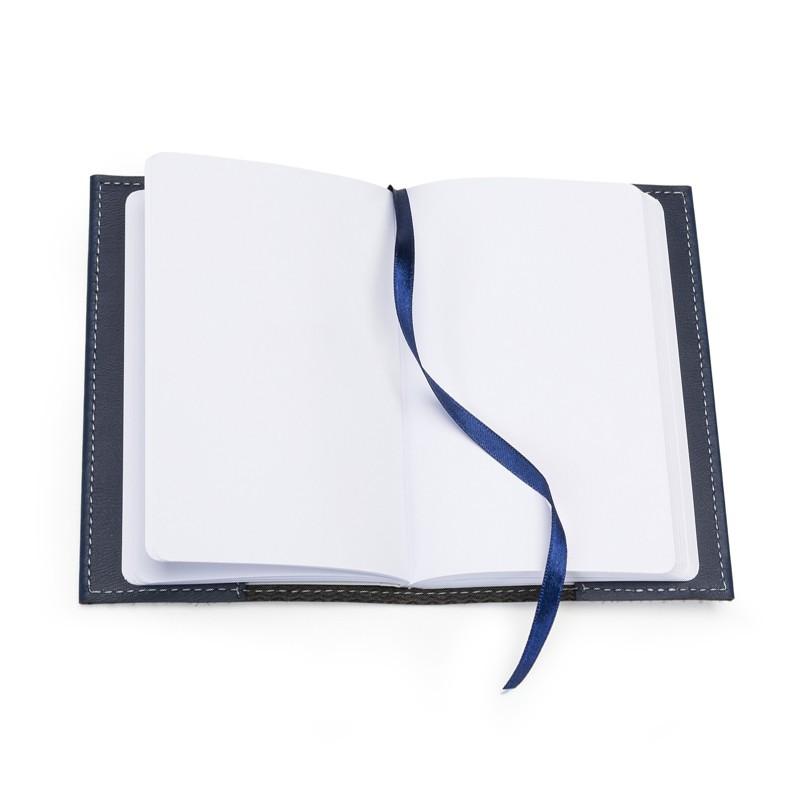 Bloco de Notas Bidins Tipo Moleskine Couro Fechamento Elástico - Ref.0019125