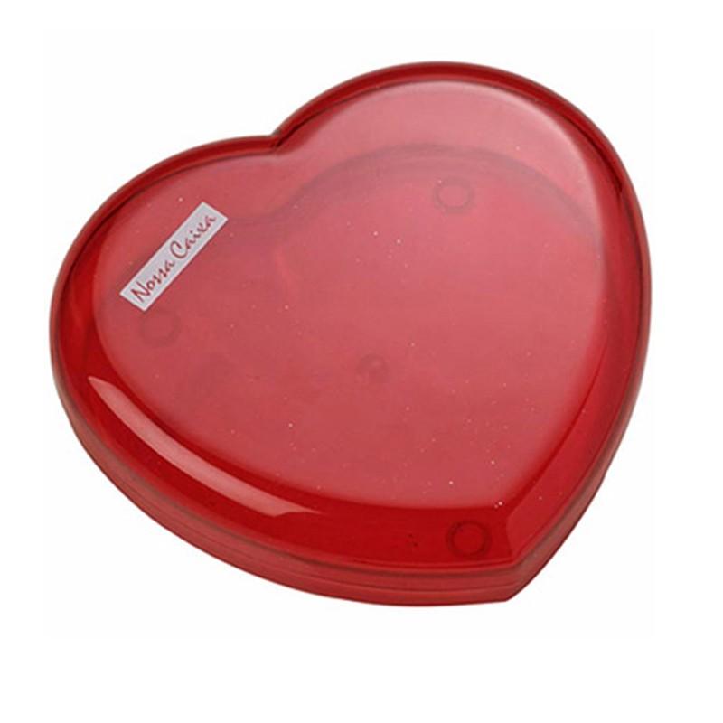 Caixa coração vermelho transparente Ref.0014228