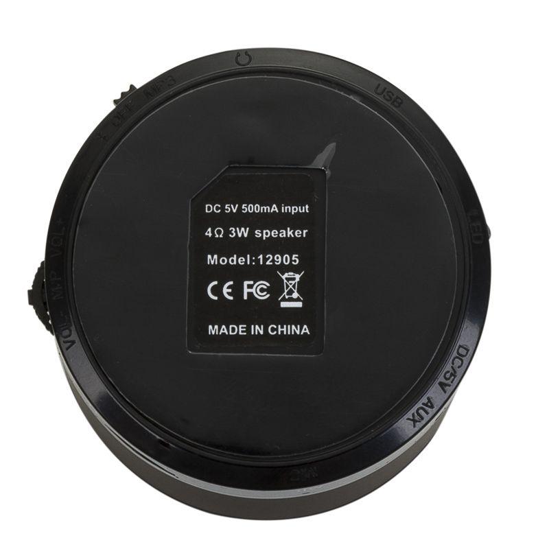 Caixa de Som Bluetooth Redonda com Rádio AM/FM - Ref.0080016