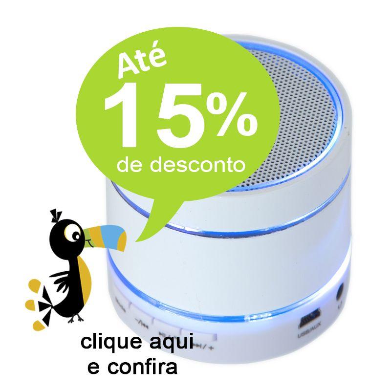 Caixa de Som Bluetooth Redonda - Ref.0080021