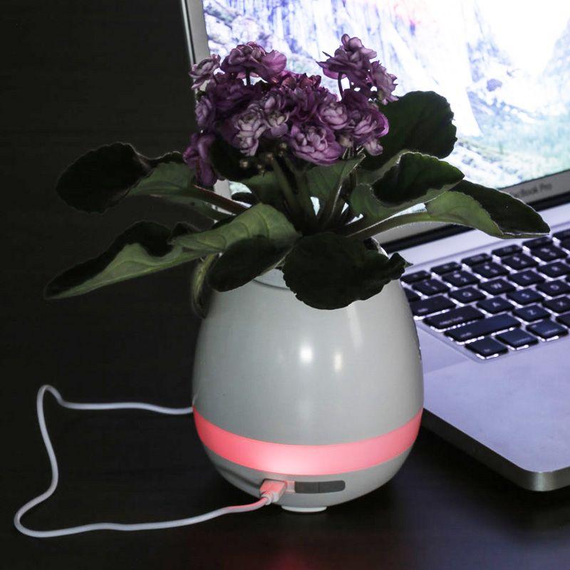 Caixa de Som Vaso com Sensor e Bluetooth Ref. 0080025