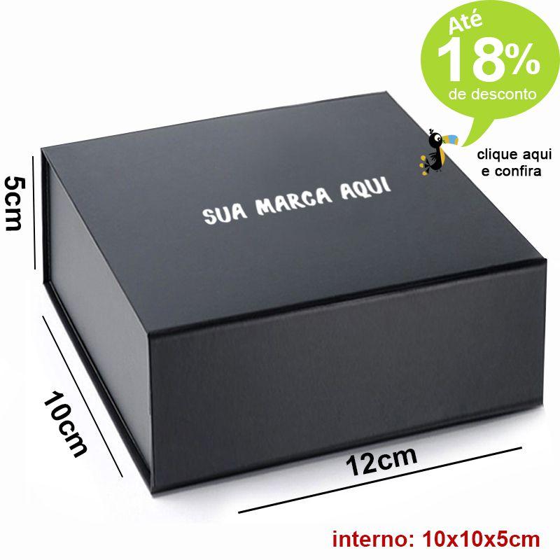 Caixa Magnética 10 x 12 x 5cm - Preta Ref.0200001