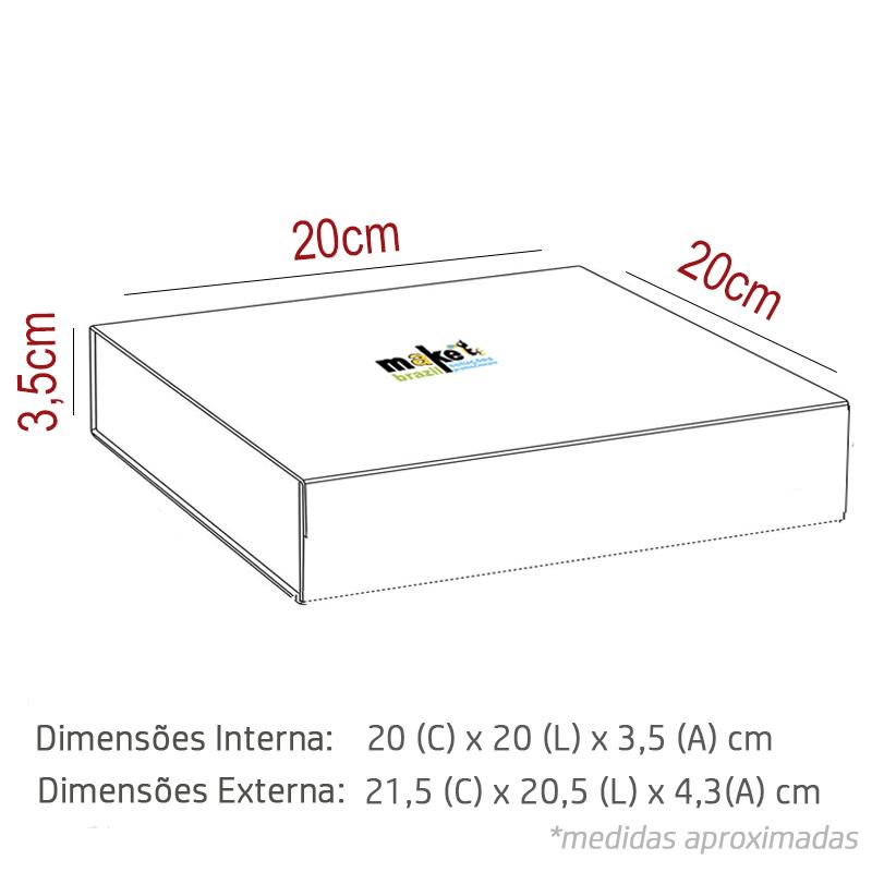 20 x 20 x 3,5cm - Branca - Premium Magnética - REF.020121