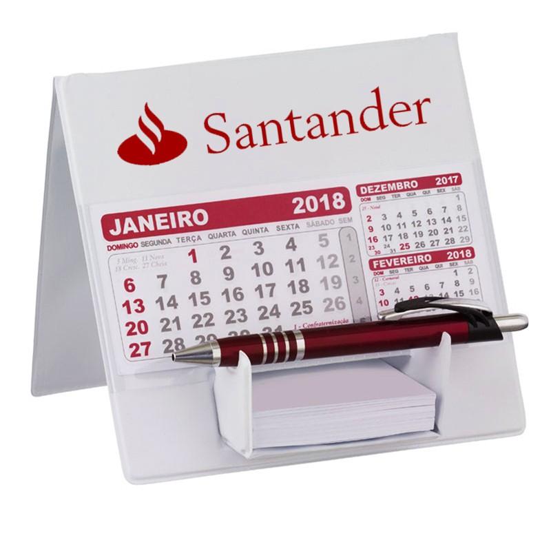 Calendário com suporte para caneta + rascunho Ref.0013001