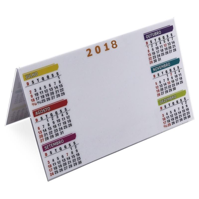 Calendário de mesa plástico 15,1x9,6 cm  Ref.0013020