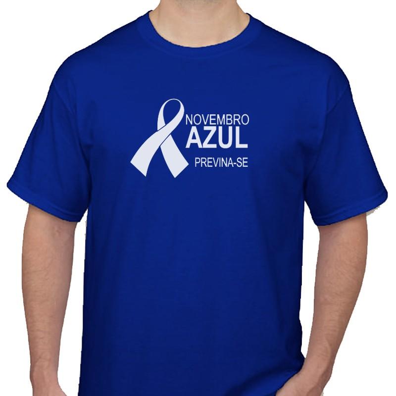 Camiseta colorida - Novembro Azul Ref.0014900