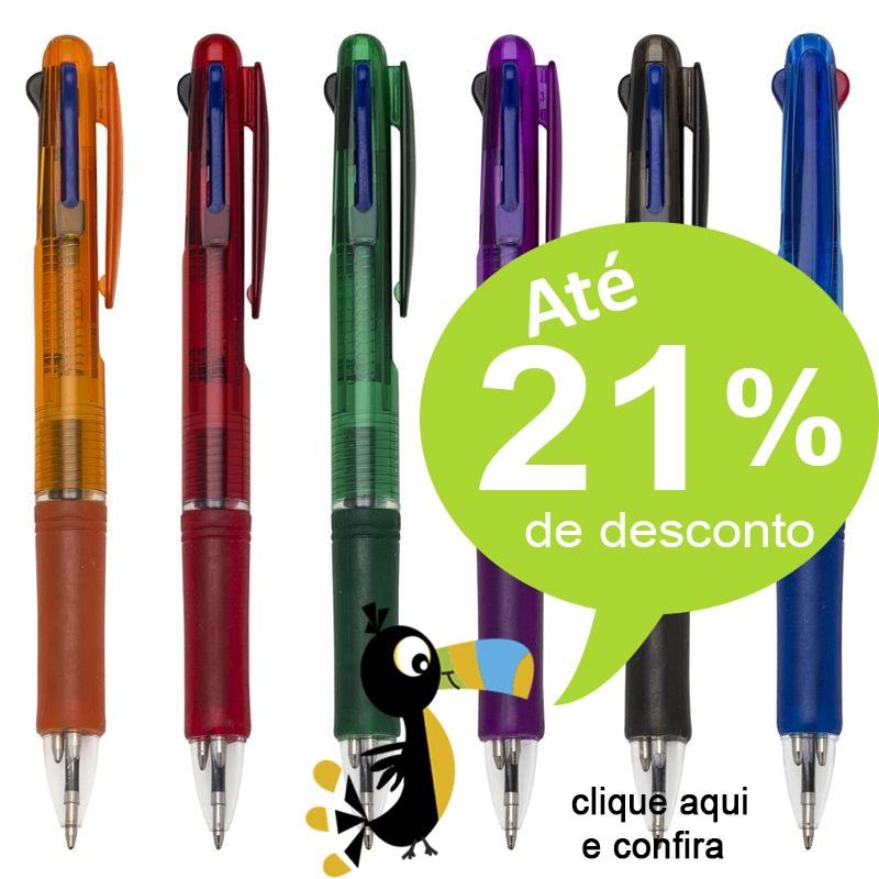 Caneta 3 Cores - Modelo Araraquara - Ref.0028560