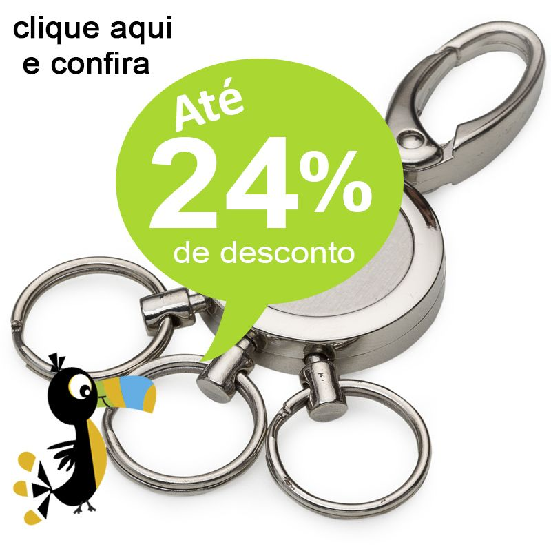 Chaveiro 3 Argolas Metal  - Ref.0044027