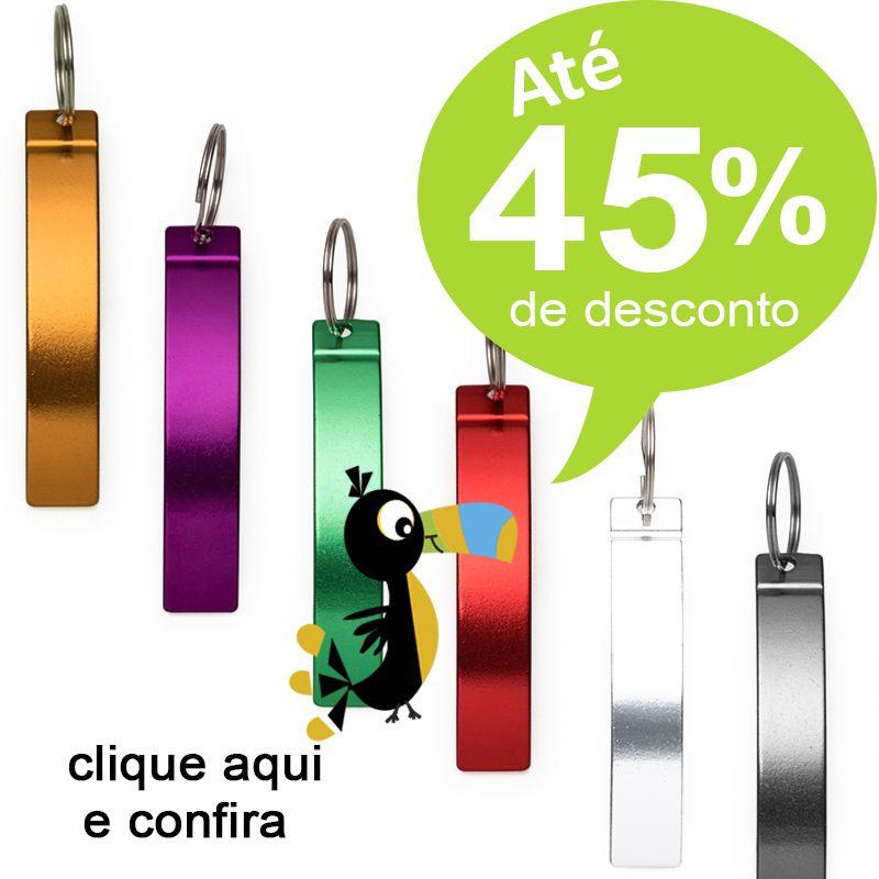 Chaveiro Abridor Curvo Colorido - Ref.0044106