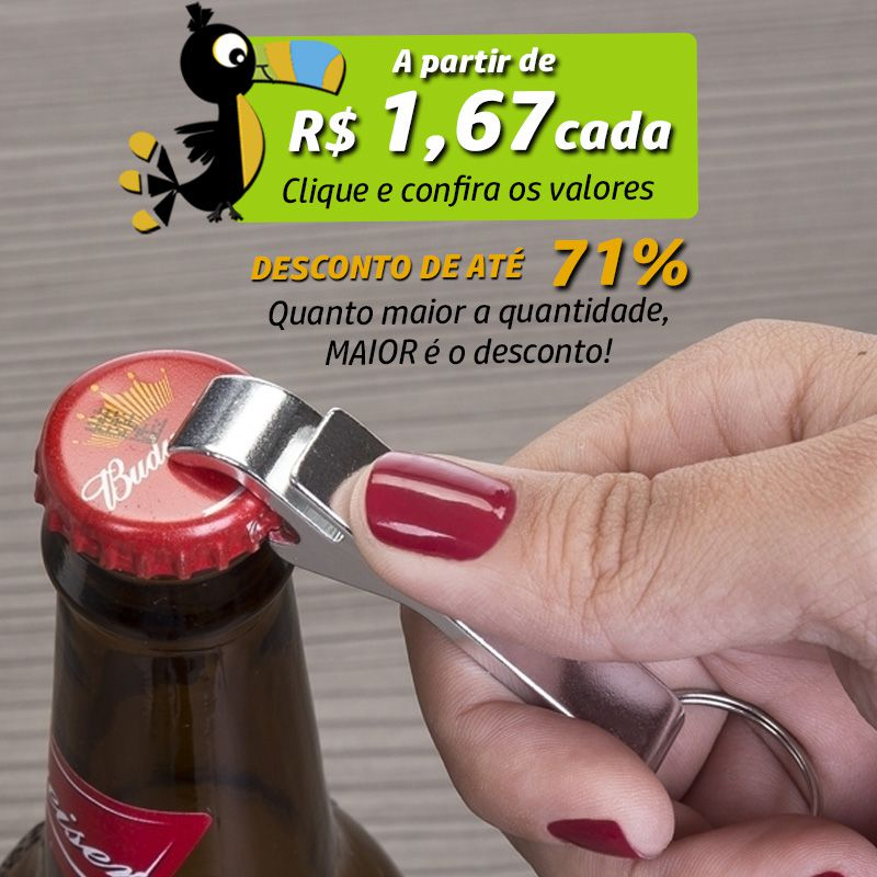 Chaveiro Abridor Metal Colorido Pé de Galinha - Ref.0044022