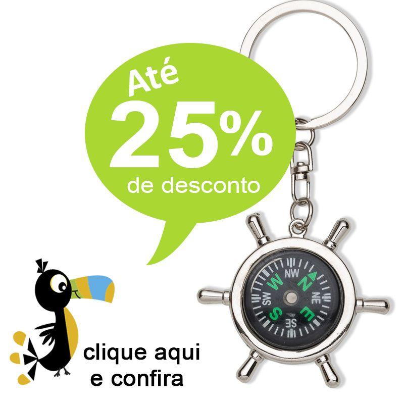 Chaveiro Bússola Timão Metal - Ref.0044041