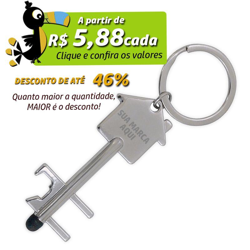 Chaveiro Casa Abridor e Ponta Touch  - Ref.0044119