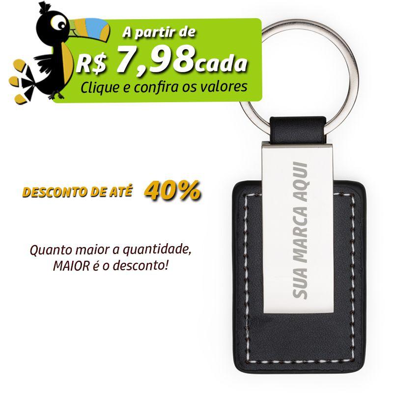 Chaveiro Couro com Metal - Ref.0044009