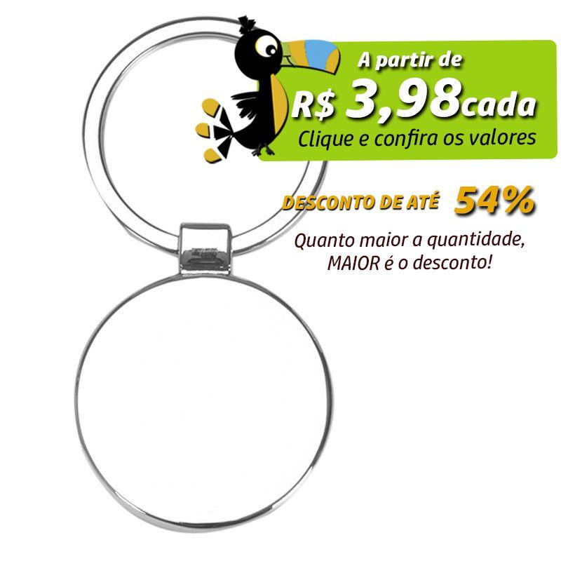 Chaveiro de Metal Redondo com Bordas - Ref.0044079