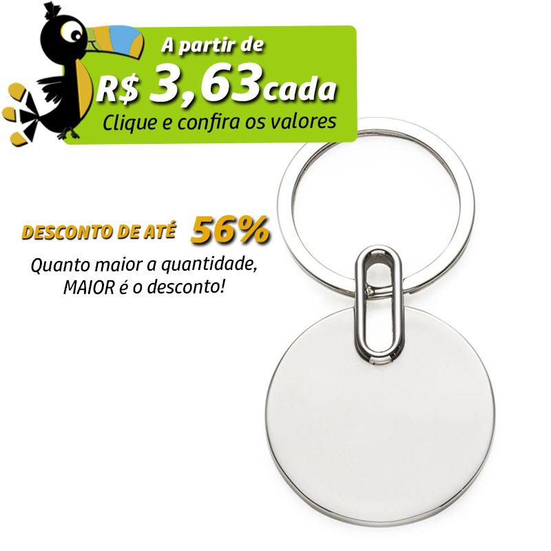 Chaveiro de Metal Redondo - Ref.0044042