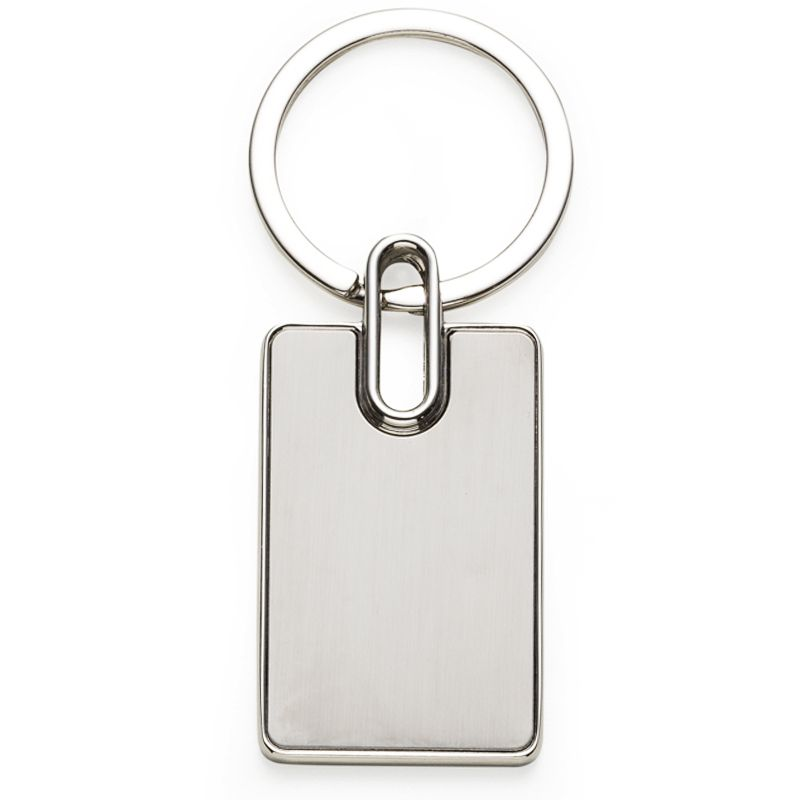 Chaveiro de Metal Retangular - Ref.0044043