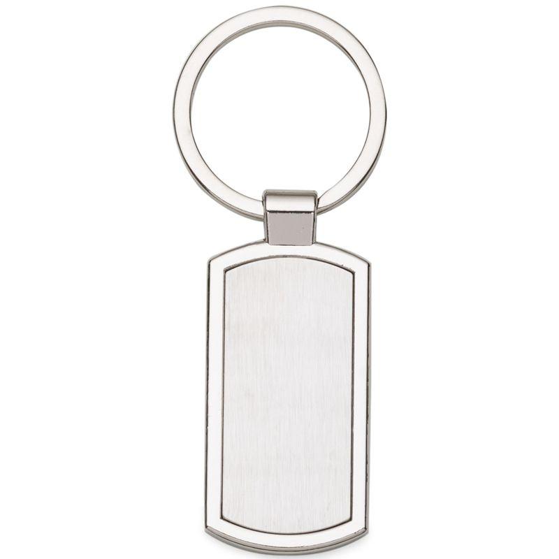 Chaveiro de Metal Retangular  - Ref.0044095