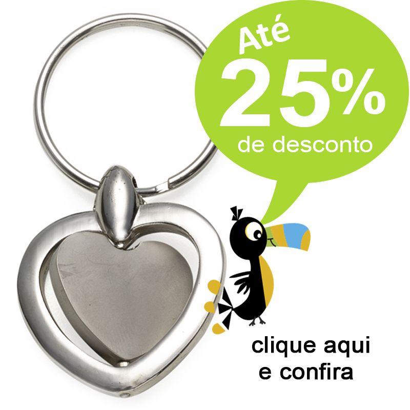 Chaveiro Giratório Coração - Ref.0044033