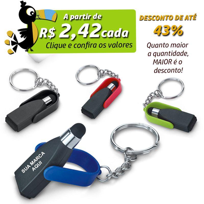 Chaveiro Giratório Limpador de Tela e Touch - Ref.0044117