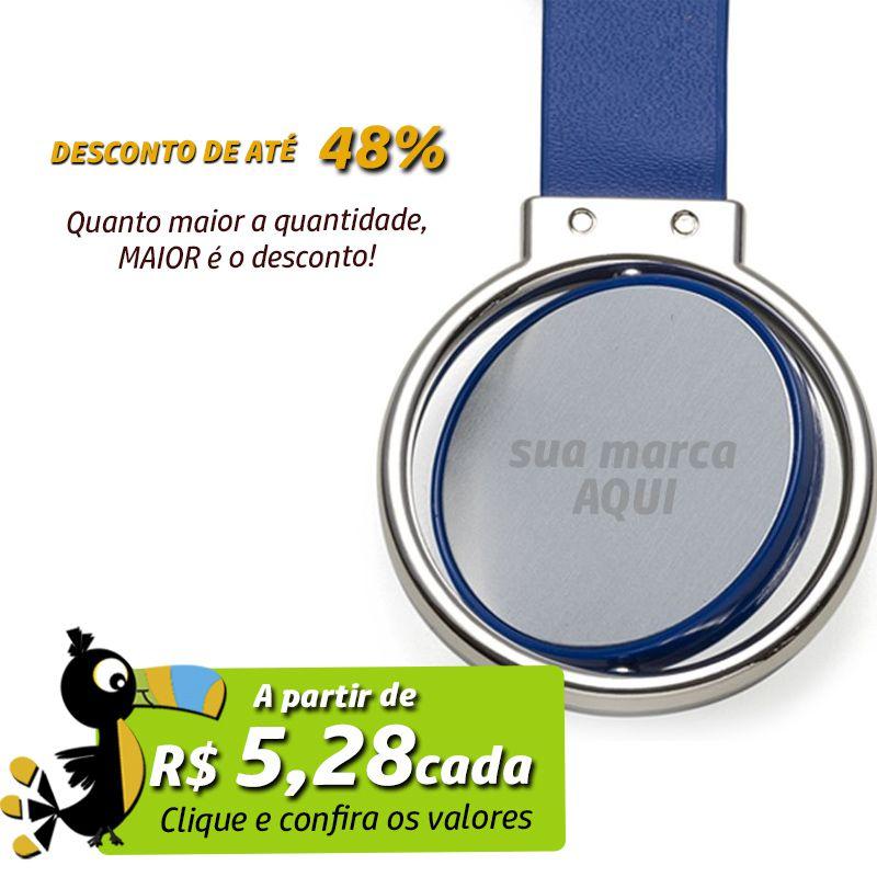 Chaveiro Giratório Metal e Borracha Colorida  - Ref.0044055