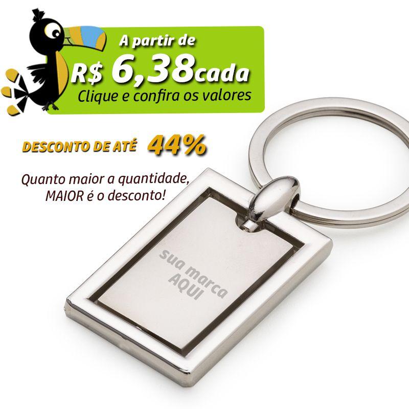Chaveiro Giratório Retangular - Ref.0044012
