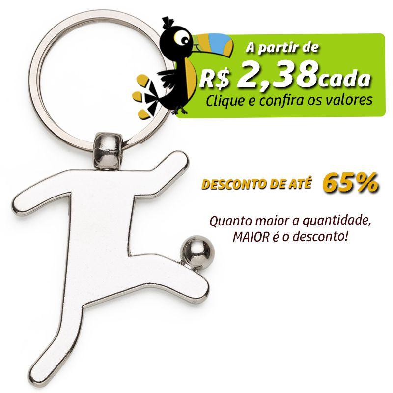 Chaveiro Jogador de Futebol Metal - Ref.0044107