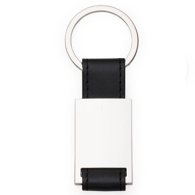 Chaveiro Metal com Couro - Alça Costurada - Ref.0044024