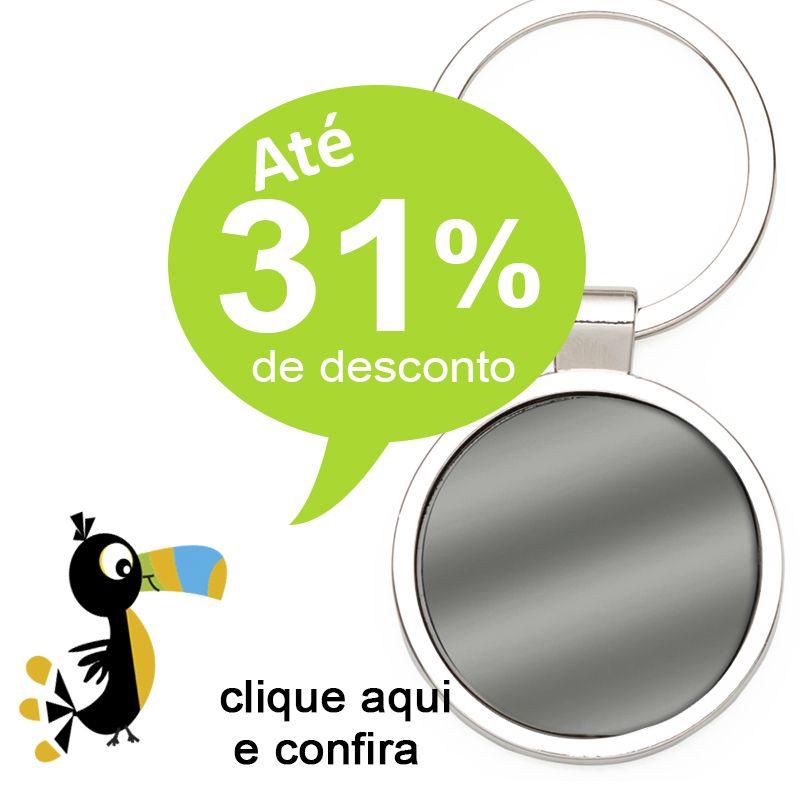Chaveiro Metal Grafite Redondo - Ref.0044093