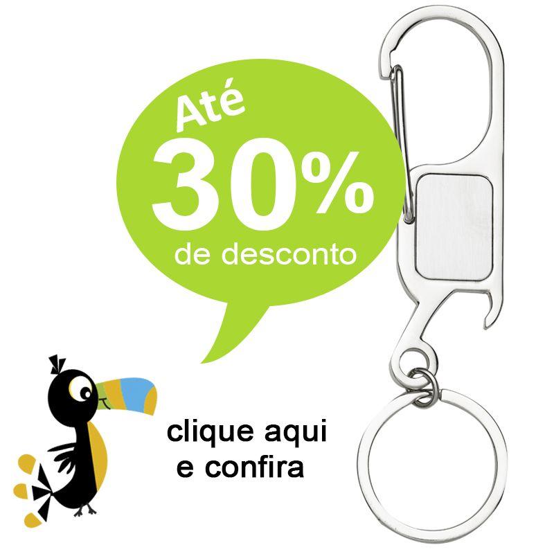 Chaveiro Mosquetão com abridor - Ref.0044100