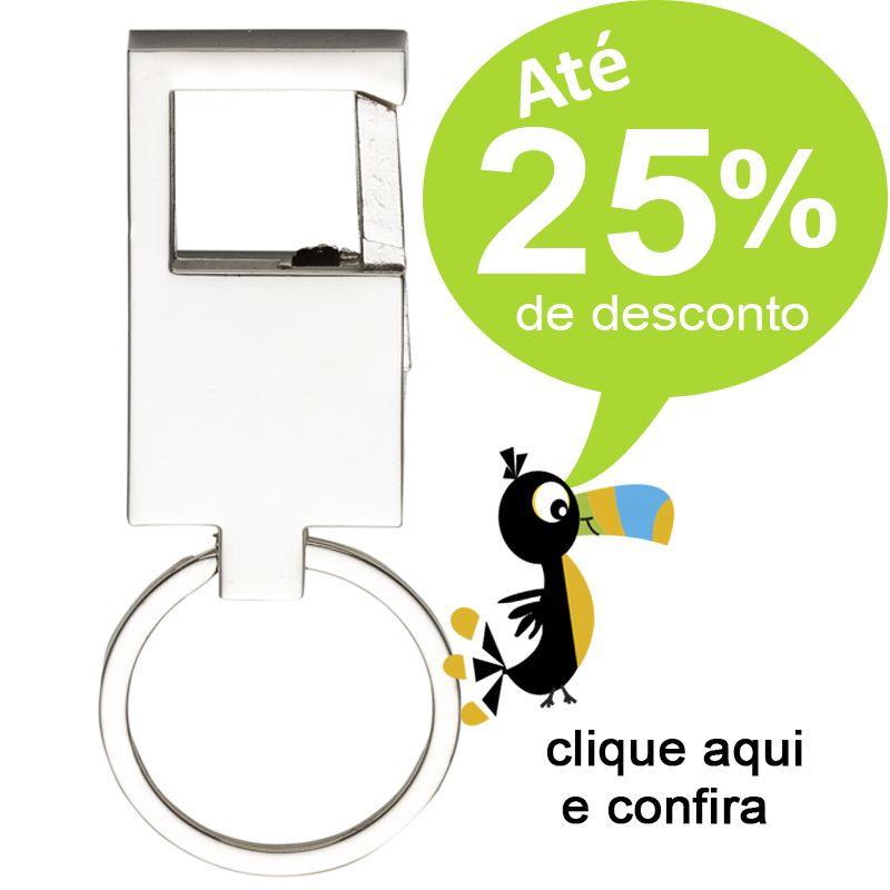 Chaveiro Mosquetão Metal Brilho - Ref.0044049