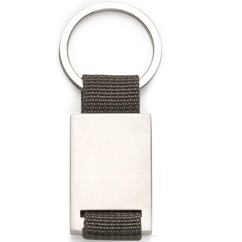 Chaveiro Nylon com Metal Fosco  - Ref.0044098