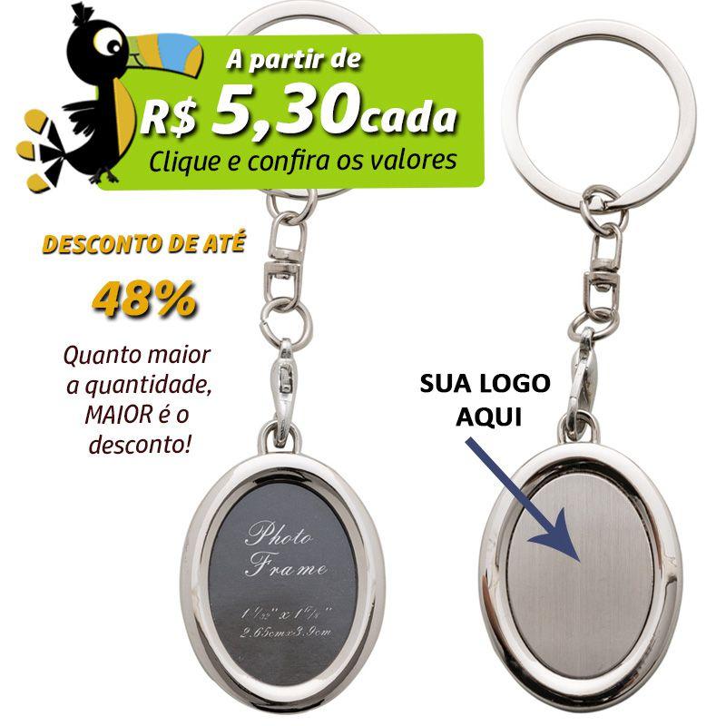 Chaveiro Porta Retrato Oval  - Ref.0044057