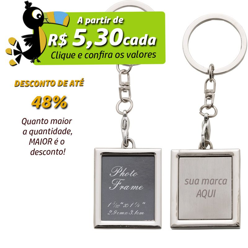 Chaveiro Porta Retrato Quadrado  - Ref.0044075