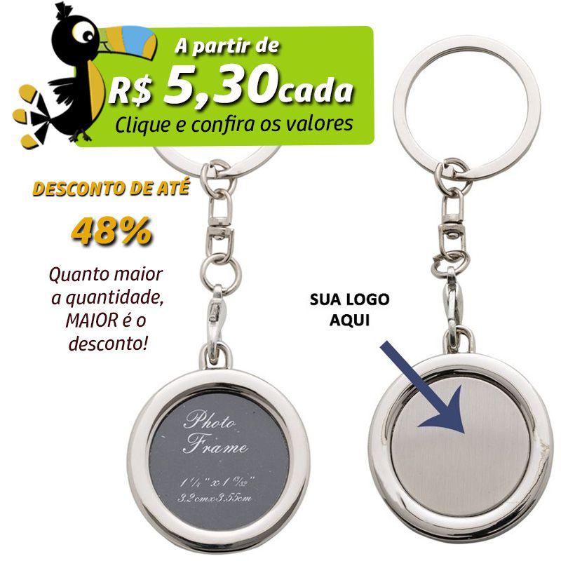 Chaveiro Porta Retrato Redondo  - Ref.0044074