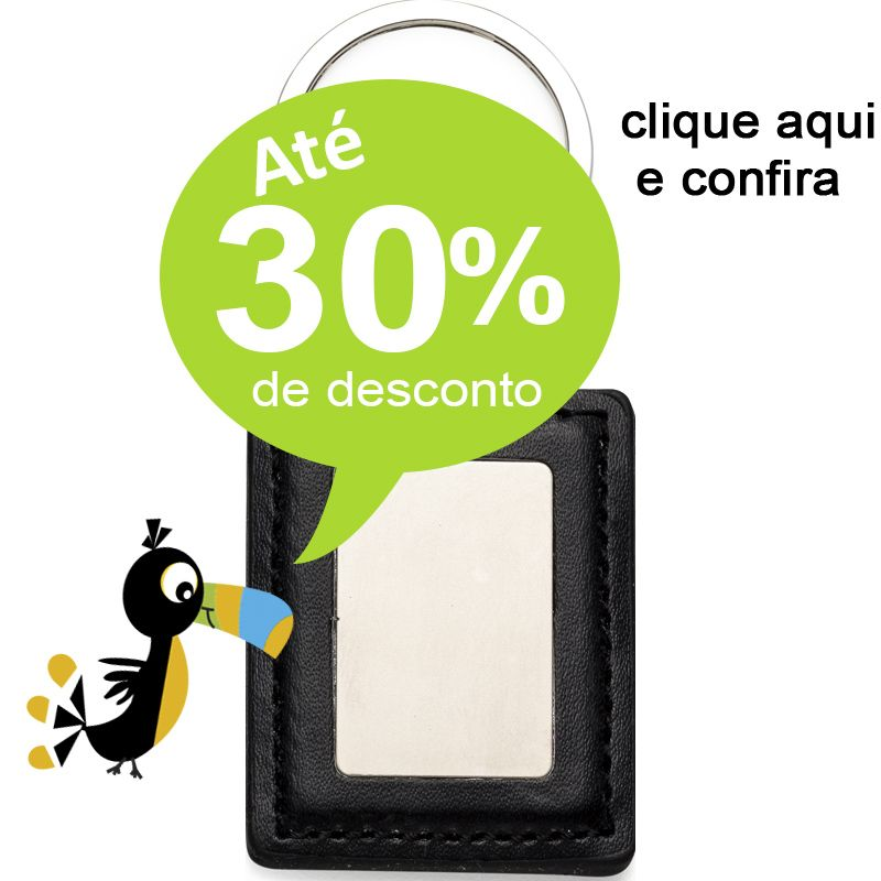 Chaveiro Quadrado Couro - Ref.0044008