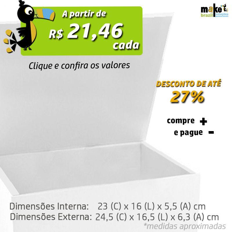 23 x 16 x 5,5CM - CAIXA PREMIUM MAGNÉTICA BRANCA - REF.020151