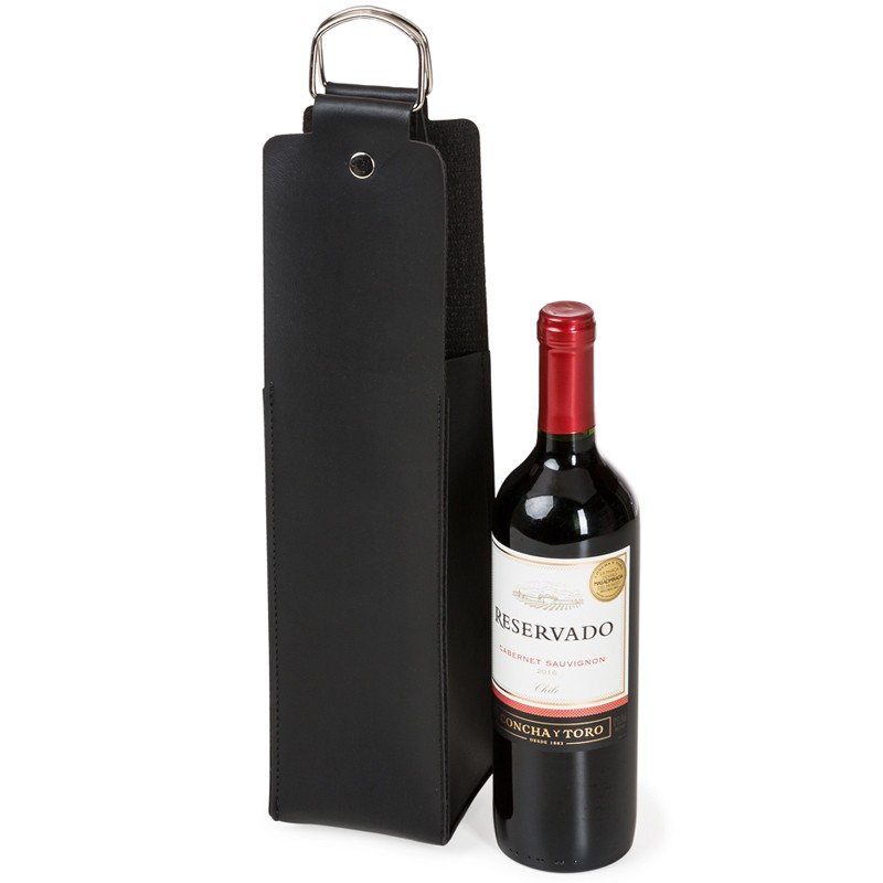 Estojo para Vinho em Couro Bidins - Ref.0026110